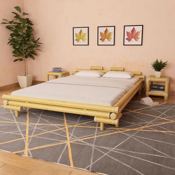 VDLP13183_FR Cadre de lit Bambou 160 x 200 cm - Topdeal
