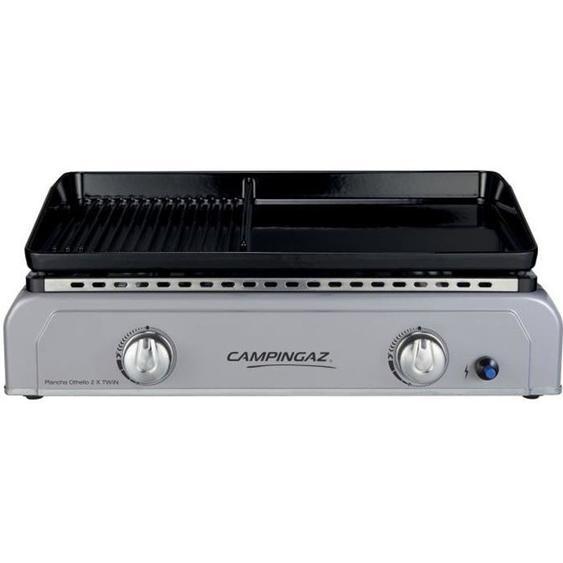 CAMPINGAZ Plancha à gaz à poser BF OTHELLO 2X TWIN  - Plaque en fonte émaillée mixte 60 x 40 cm