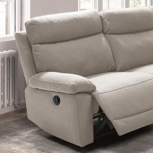 Canapé 3 places relax électrique tissu - Parati - Beige H31