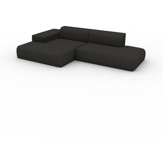 Canapé dangle - Anthracite, design arrondi, canapé en L ou angle, confortable avec méridienne ou coin - 308 x 72 x 168 cm, modulable