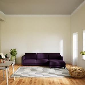 Canapé dangle - Aubergine, design épuré, canapé en L ou angle, élégant avec méridienne ou coin - 264 x 75 x 162 cm, modulable