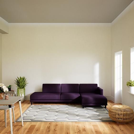 Canapé dangle - Aubergine, design épuré, canapé en L ou angle, élégant avec méridienne ou coin - 292 x 75 x 162 cm, modulable