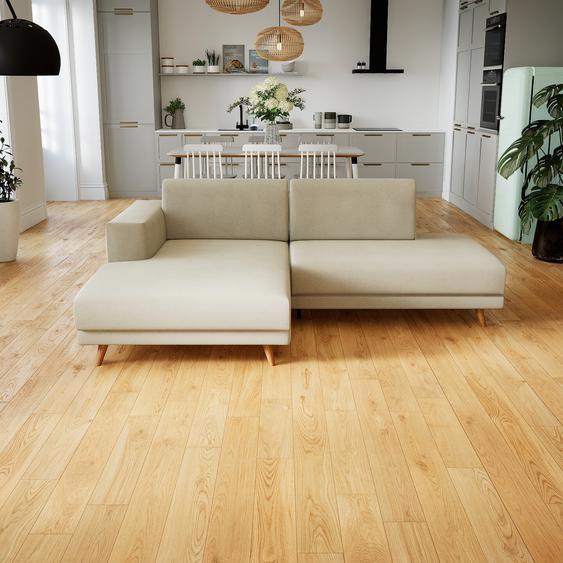 Canapé dangle - Blanc Crème, design épuré, canapé en L ou angle, élégant avec méridienne ou coin - 224 x 75 x 162 cm, modulable