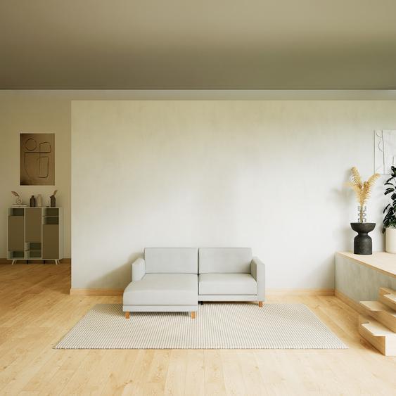 Canapé dangle - Blanc, design épuré, canapé en L ou angle, élégant avec méridienne ou coin - 184 x 75 x 162 cm, modulable