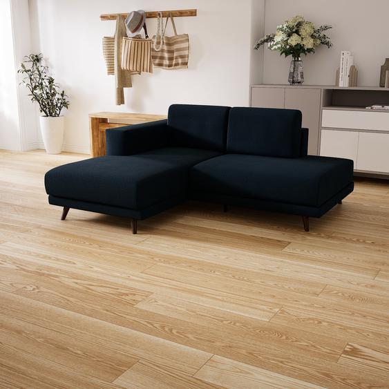 Canapé dangle - Bleu Nuit, design épuré, canapé en L ou angle, élégant avec méridienne ou coin - 184 x 75 x 162 cm, modulable