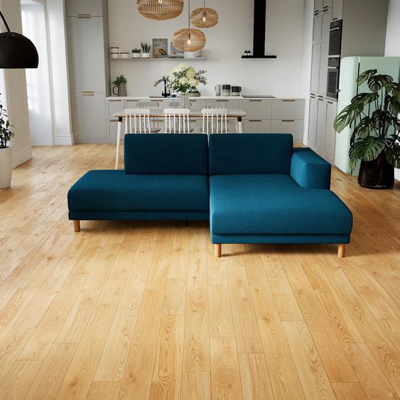 Canapé dangle - Bleu Océan, design épuré, canapé en L ou angle, élégant avec méridienne ou coin - 224 x 75 x 162 cm, modulable