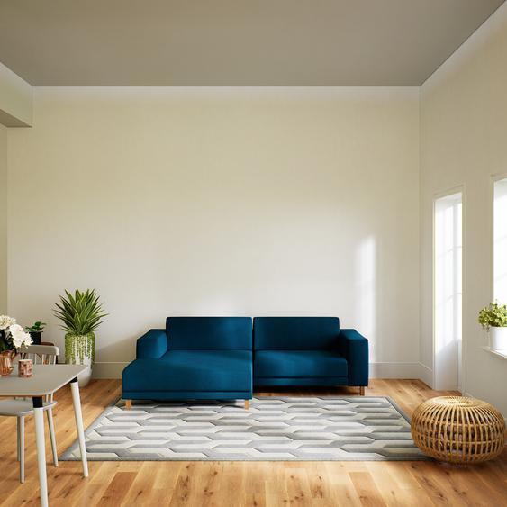 Canapé dangle - Bleu Océan, design épuré, canapé en L ou angle, élégant avec méridienne ou coin - 248 x 75 x 162 cm, modulable