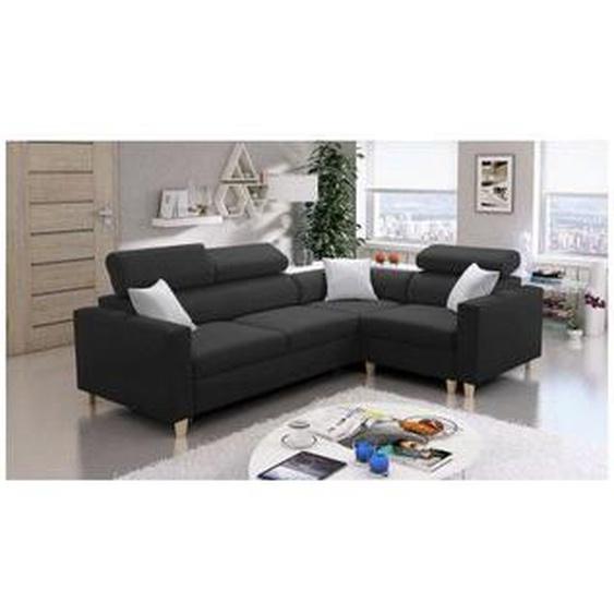 Azura Home Design - Canapé dangle convertible LORETTO 269x193 cm - Angle: Droit - Groupe tissu: Groupe B - Naturel