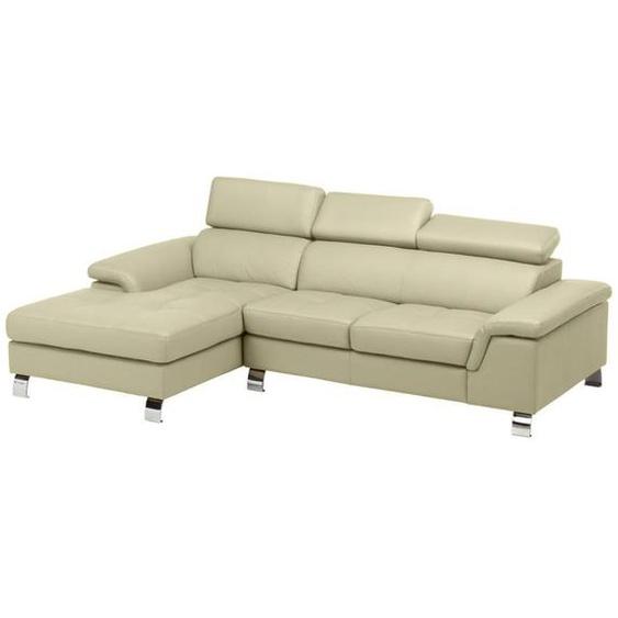Canapé dangle cuir MISHIMA - Beige - Angle gauche