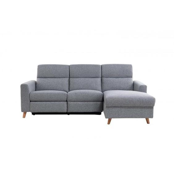 Canapé dAngle de Relaxation 3 places BERTIE style Scandinave - Angle Droit - 223 x 86 x 96 cm -