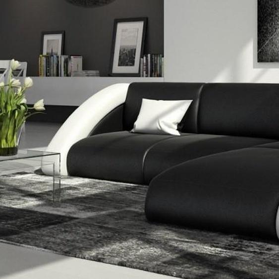Canapé dangle design en cuir - Hays - Assise + dossier Noir 902