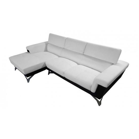 Canapé dangle design en cuir simili - Zack - Blanc 901 / Marron