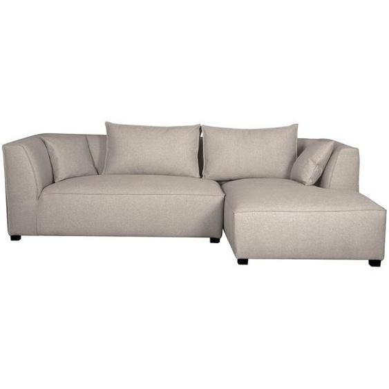 Canapé dangle droit modulable tissu beige PLURIEL