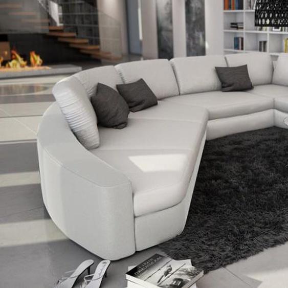 Canapé dangle en cuir panoramique - Aiken - Blanc 901