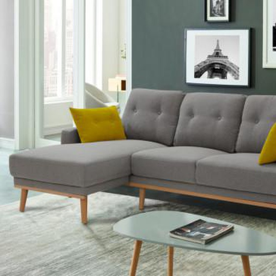 Canapé dangle en tissu RAOUT - Gris - Angle gauche