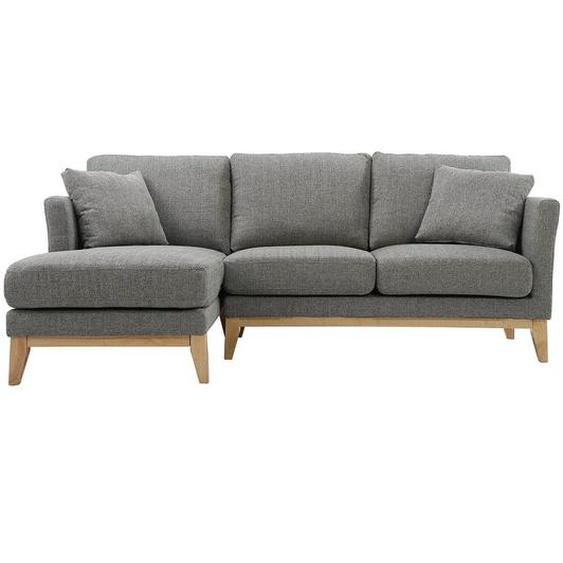 Canapé dangle gauche scandinave en tissu gris clair déhoussable OSLO