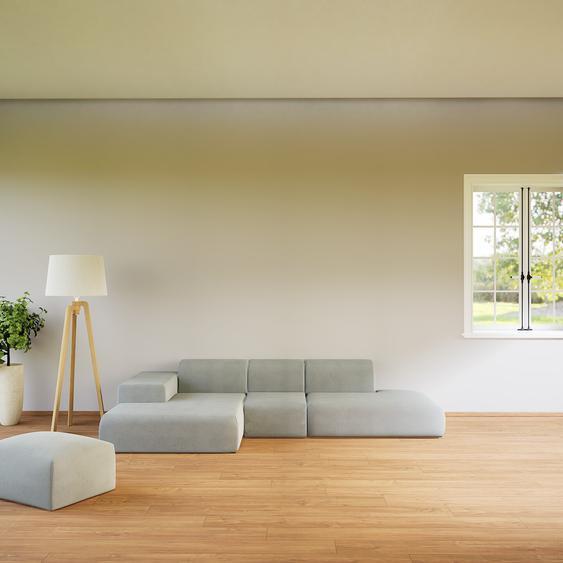 Canapé dangle - Grège, design arrondi, canapé en L ou angle, confortable avec méridienne ou coin - 319 x 72 x 168 cm, modulable