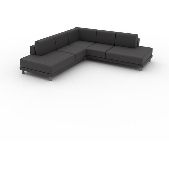 Canapé dangle - Gris ardoise, design épuré, canapé en L ou angle, élégant avec méridienne ou coin - 254 x 75 x 254 cm, modulable