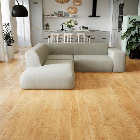 Canapé dangle - Gris Clair, design arrondi, canapé en L ou angle, confortable avec méridienne ou coin - 239 x 72 x 241 cm, modulable