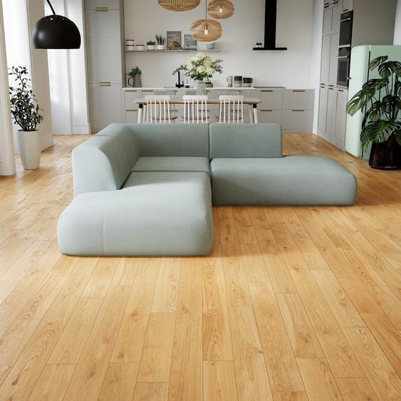 Canapé dangle - Gris Clair, design arrondi, canapé en L ou angle, confortable avec méridienne ou coin - 241 x 72 x 241 cm, modulable