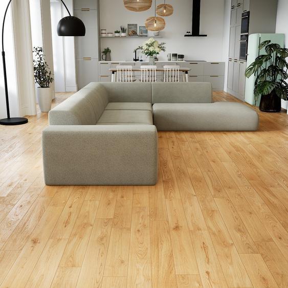 Canapé dangle - Gris Clair, design arrondi, canapé en L ou angle, confortable avec méridienne ou coin - 267 x 72 x 339 cm, modulable