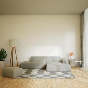 Canapé dangle - Gris Clair, design arrondi, canapé en L ou angle, confortable avec méridienne ou coin - 296 x 72 x 168 cm, modulable