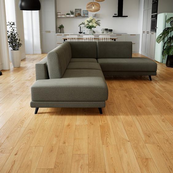 Canapé dangle - Gris Gravier, design épuré, canapé en L ou angle, élégant avec méridienne ou coin - 214 x 75 x 294 cm, modulable