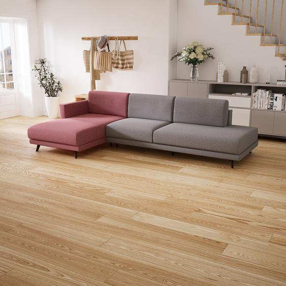 Canapé dangle - Gris Gravier, design épuré, canapé en L ou angle, élégant avec méridienne ou coin - 293 x 75 x 162 cm, modulable