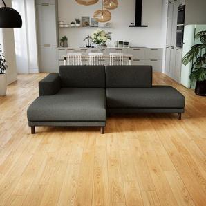 Canapé - Gris Pierre, modèle épuré, canapé pour salon, en tissu avec pieds personnalisables - 224 x 75 x 162 cm, modulable