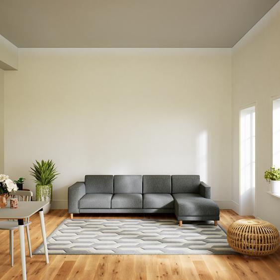 Canapé dangle - Gris Pierre, design épuré, canapé en L ou angle, élégant avec méridienne ou coin - 276 x 75 x 162 cm, modulable