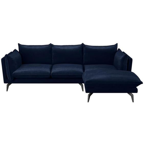 Canapé dangle KESTREL en velours - Bleu nuit - Angle droit
