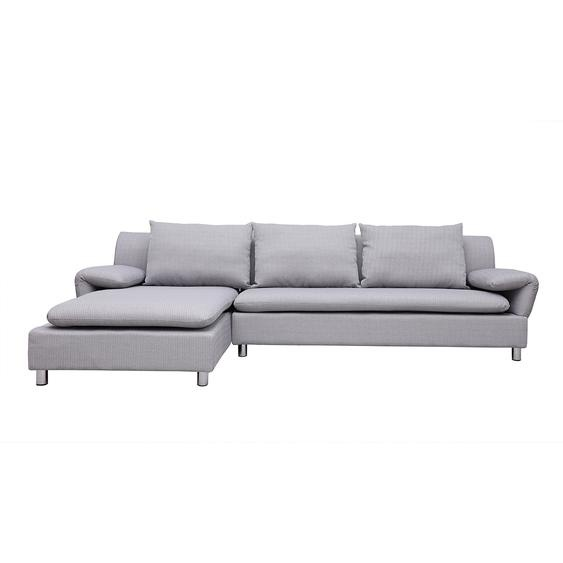 Canapé dangle réversible design gris clair BRASILIA