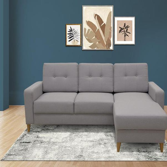 Canapé dangle réversible en tissu RAJAMAR - Gris