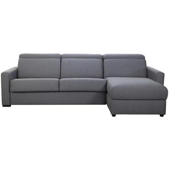 Canapé dangle réversible et convertible avec coffre et têtières ajustables gris NORO