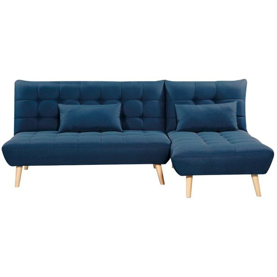 Canapé dangle scandinave JOANA réversible et convertible - Bleu - 224 x 136 x 85 cm -
