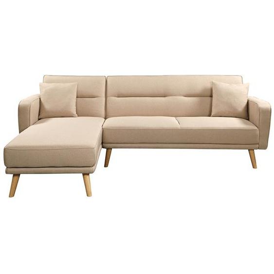 Canapé dAngle Scandinave LOYA Convertible et Réversible - Beige - 235 x 157 x 82 cm -