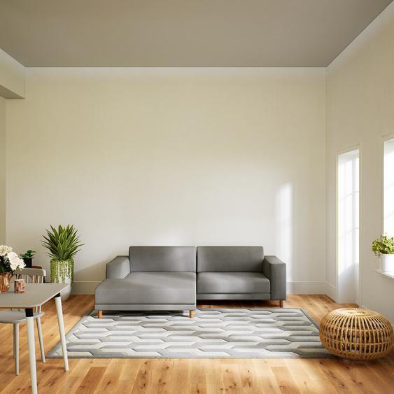 Canapé dangle - Taupe Gris, design épuré, canapé en L ou angle, élégant avec méridienne ou coin - 248 x 75 x 162 cm, modulable