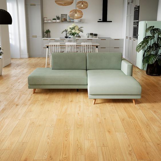 Canapé dangle - Vert menthe, design épuré, canapé en L ou angle, élégant avec méridienne ou coin - 212 x 75 x 162 cm, modulable