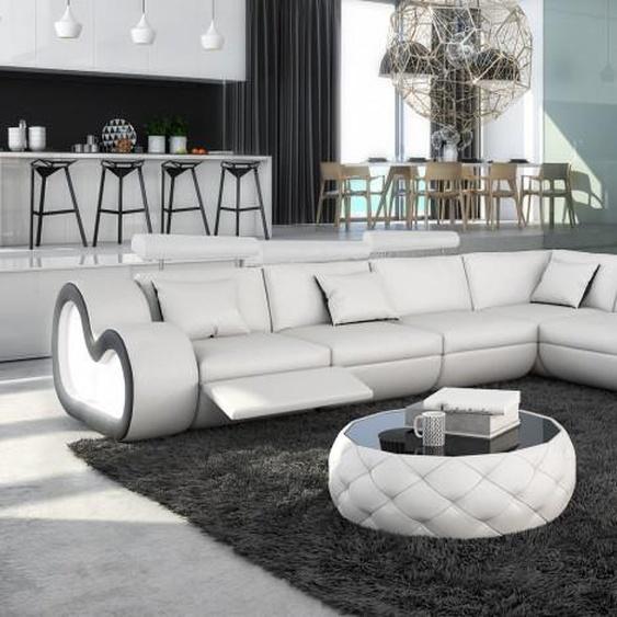Canapé dangle XL en cuir avec éclairage - Atco - Cuir + simili
