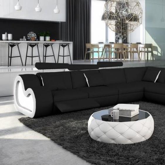 Canapé dangle XL en cuir avec éclairage - Atco - Noir 902 / C�