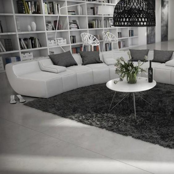 Canapé design en cuir panoramique - Keizer - Blanc 901