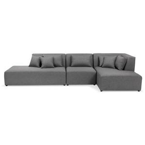 Canapé modulable design BELAGIO XL gris foncé (angle à droite)