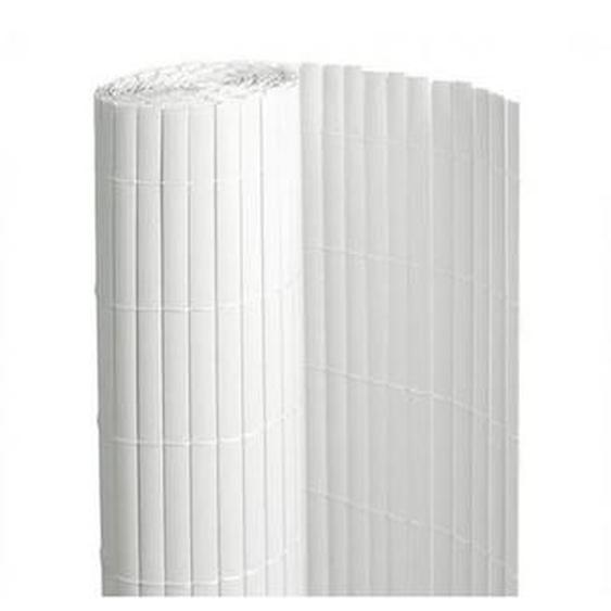 Canisse en PVC blanc - 90% doccultation, Long 54 m, Hauteur 1.80 m