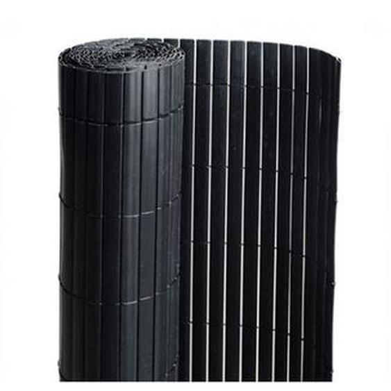 Canisse en PVC noir - 90% doccultation, Long 54 m, Hauteur 1.50 m