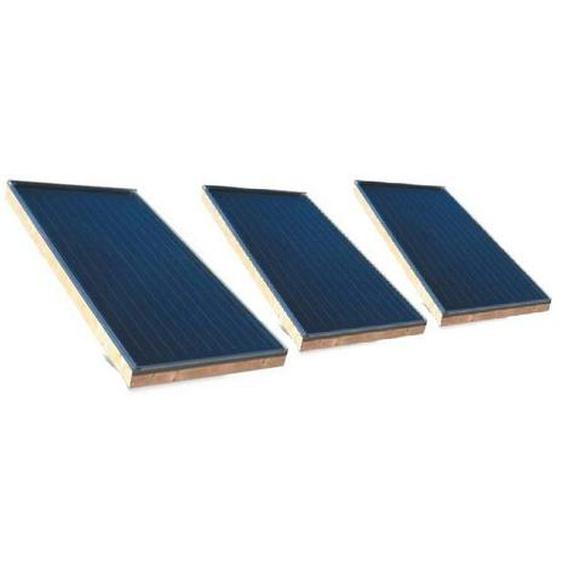 Capteur solaire encastré avec cadre bois 2104X1227mm prof 105mm (pack de 3) surface 10.08m2 THE/SOL I EMAT 5000-27