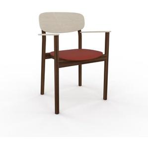 Chaise avec accoudoirs Rouge bordeaux de 52 x 82 x 58 cm au design unique, configurable