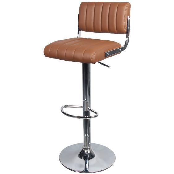 Rendez Vous Déco - Chaise de bar Houston marron 65/87 cm - Camel