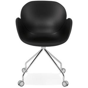 Chaise de bureau design JEFF noire sur roulettes
