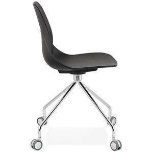 Chaise de bureau moderne RALLY noire sur roulettes