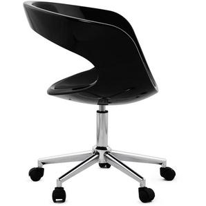 Chaise de bureau STRATO noire sur roulettes